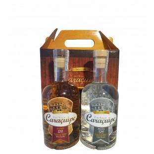 Cachaça Caraçuípe Kit Ouro/Prata 375 ml