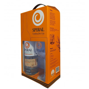 Kit Spiral Dry London Gin 750ml + Taça