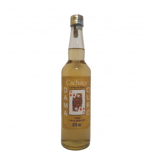 Cachaça Dama de Ouro Rótulo Marron 670 ml